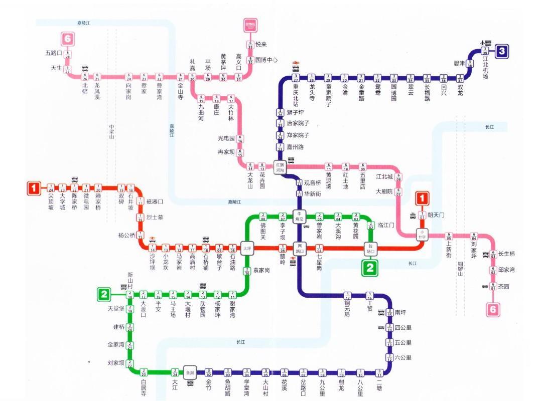 坐輕軌到重慶北站北廣場應在哪個站下車?圖片