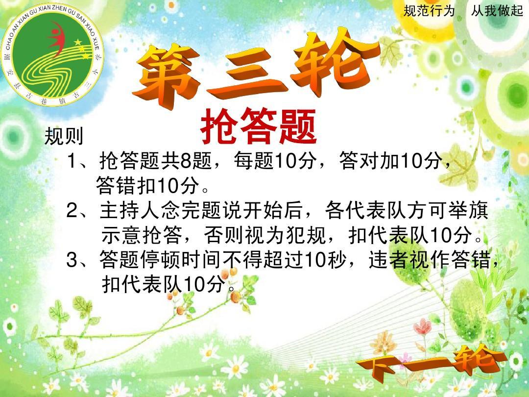 《小学生日常规范》知识竞赛课件ppt莆田小学教师招聘图片