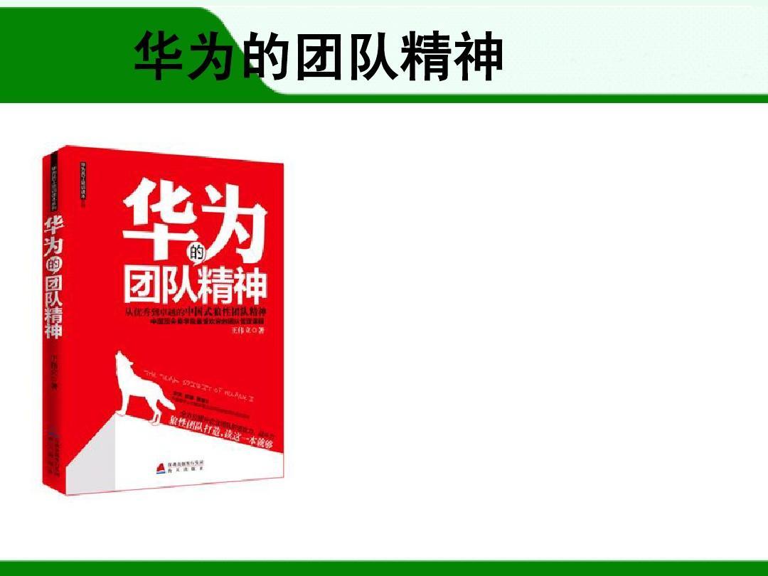 企业经营管理优秀实践案例:华为的团队精神ppt