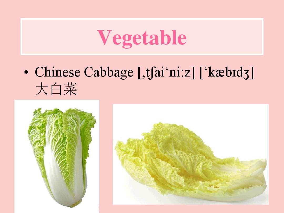 ��-[zk�Ny�Ni*�_vegetable   chinese cabbage [,t ai\'ni:z] [\'kæb d   大白菜