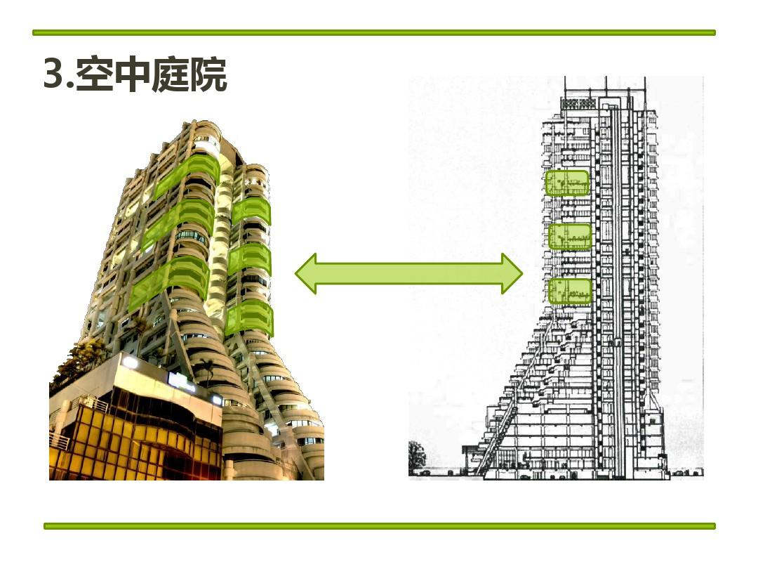 杨绿色素描建筑设计(节经文)ppt高层广告设计图图片