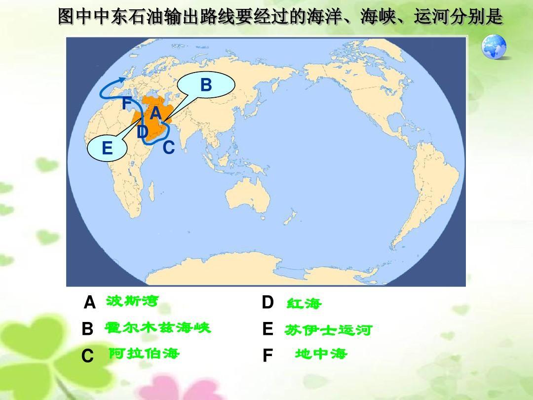 【七年级下册地理优质课件】东半球其他的国家和地区-中东ppt图片
