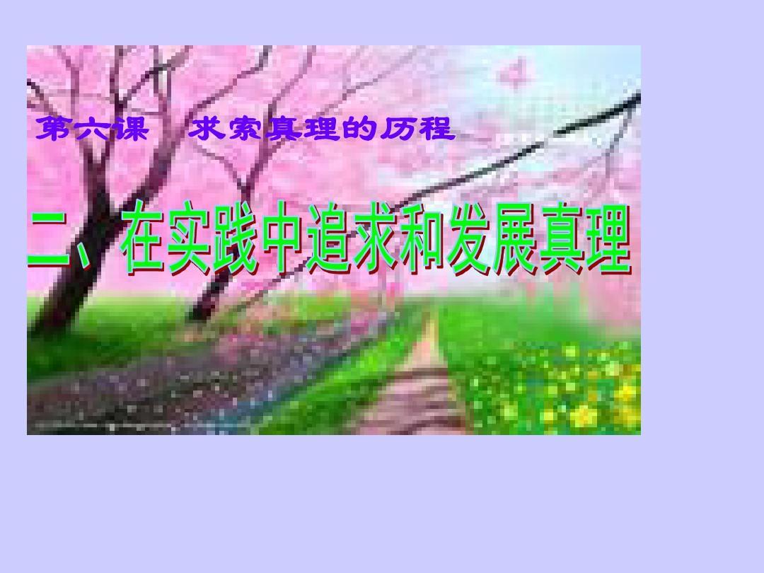 河北省抚宁六中高二政治课件:6.2《在实践中追求和发展真理》(新人教版必修4)