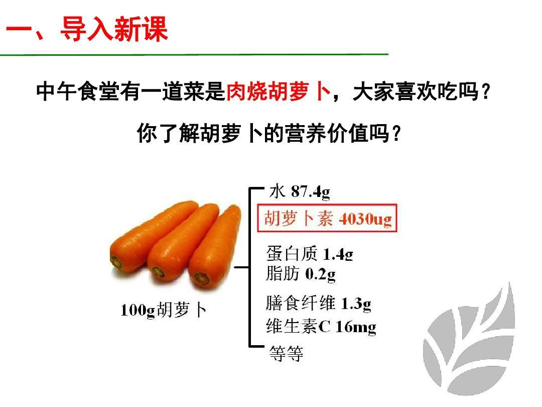 人教版提取1胡萝卜素的选修课件(21张)ppt乡下人家教学设计评价图片