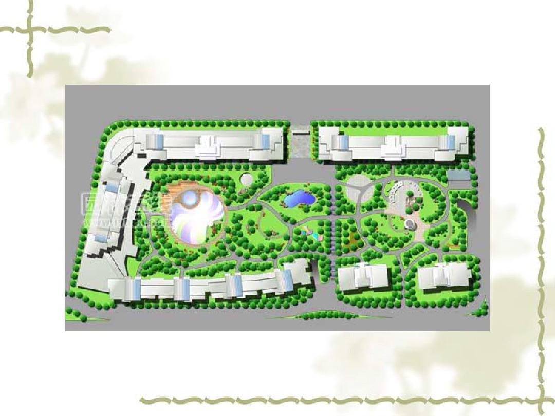 居住区绿地规划设计ppt图片