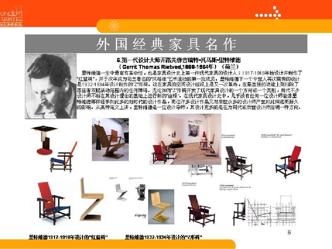 国外著名家具设计师作品v家具pptg室内设计图片