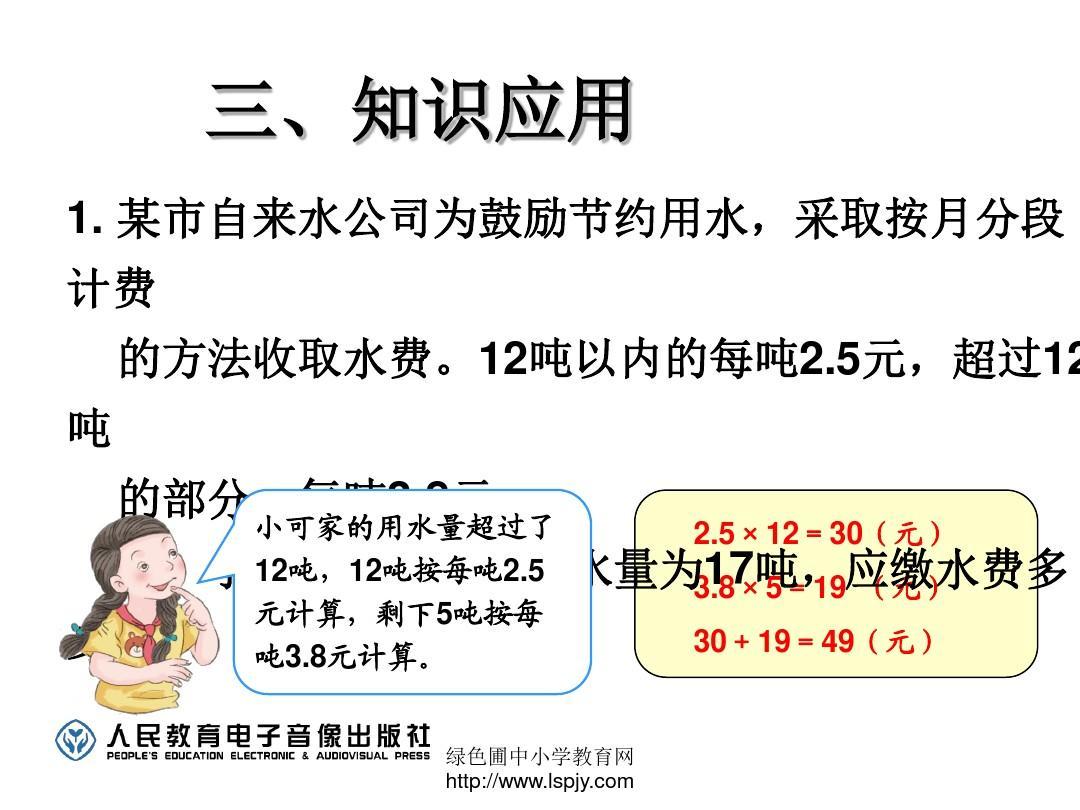 乘法教版数学五新人小学问题《小数上册-解决年级例9》ppt曲师曲阜教学楼图片