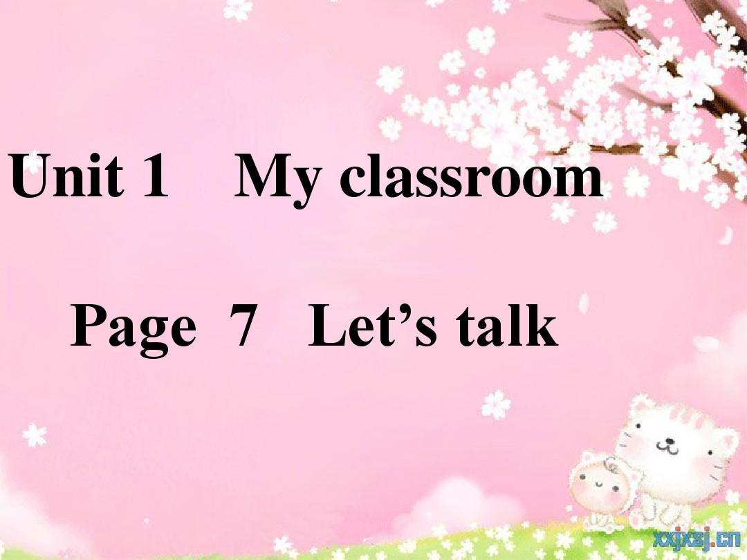 人教版PEP新版小学英语四年级上册第七页Let's talkPPT