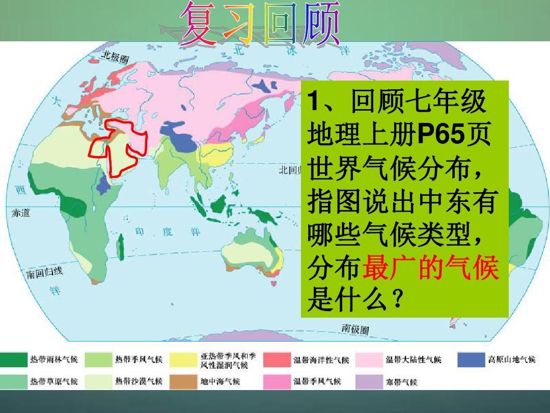 七年级地理下册 8.1 中东(第2课时)课件 (新版)新人教图片