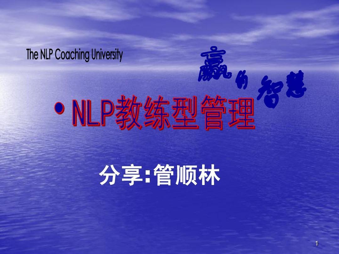 中国nlp商学院ppt