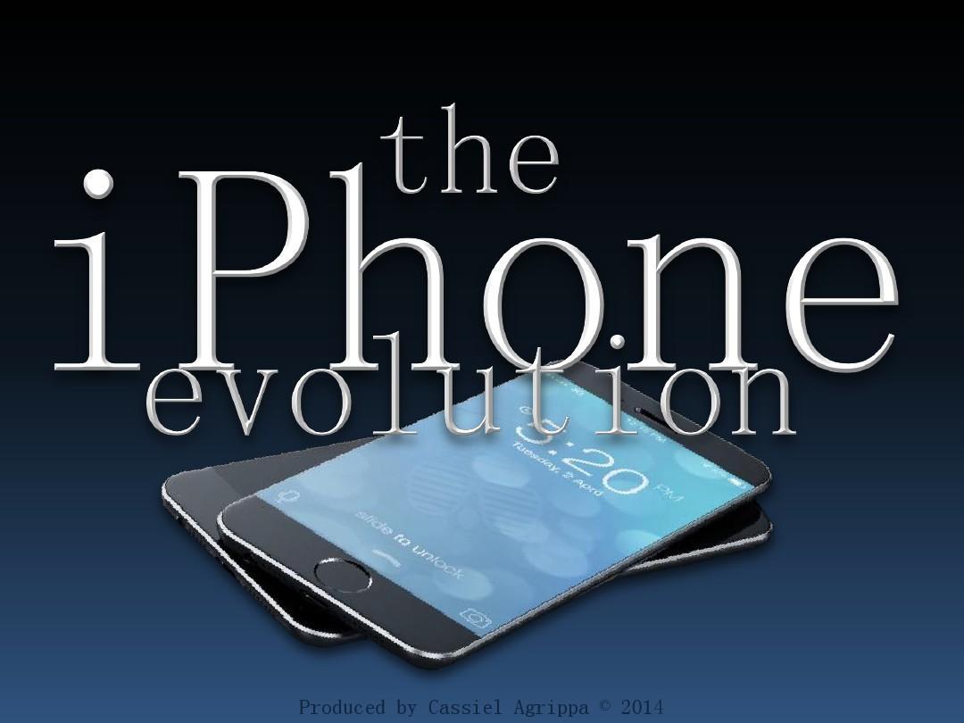 ppt模板 iphone-evolution