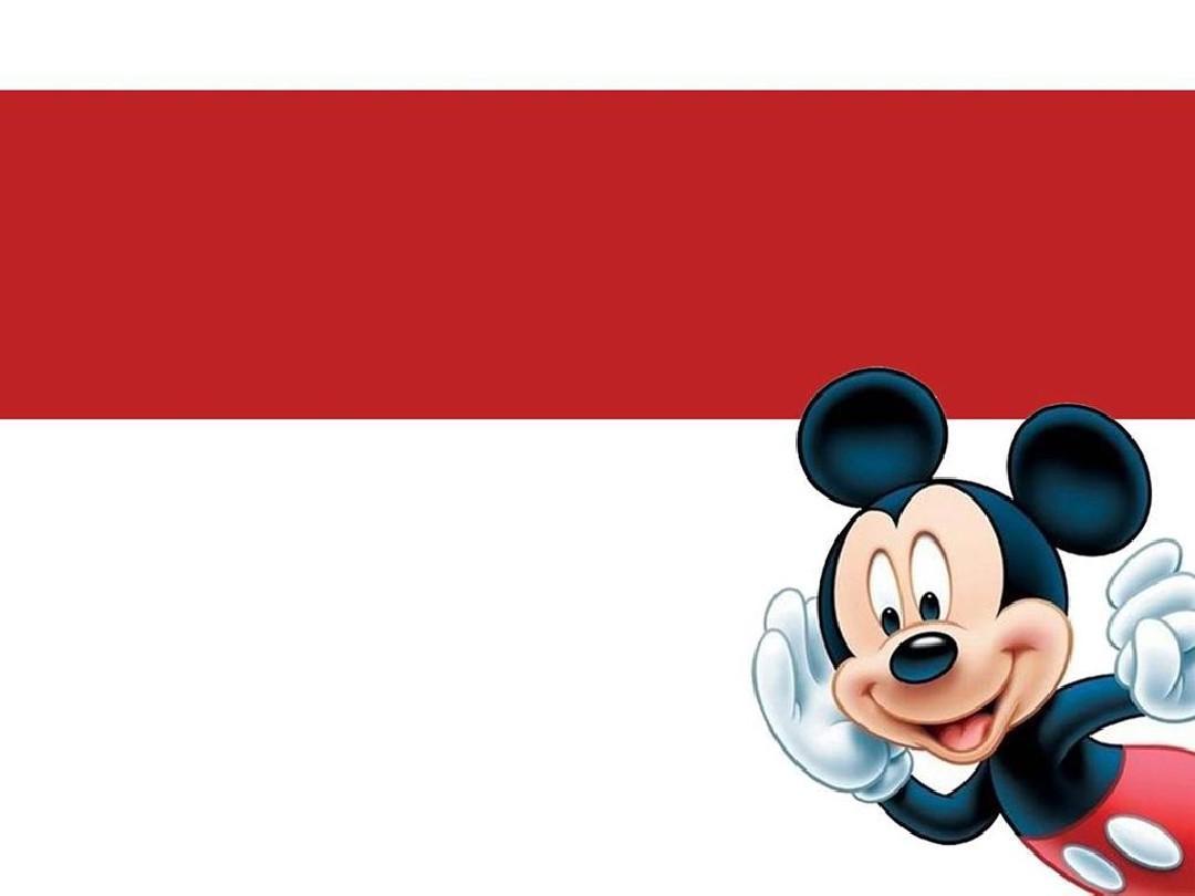 动画米老鼠ppt模板图片
