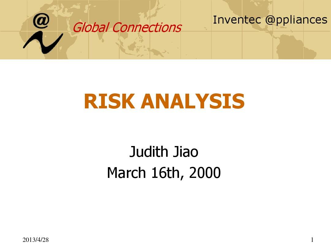 risk analysisppt