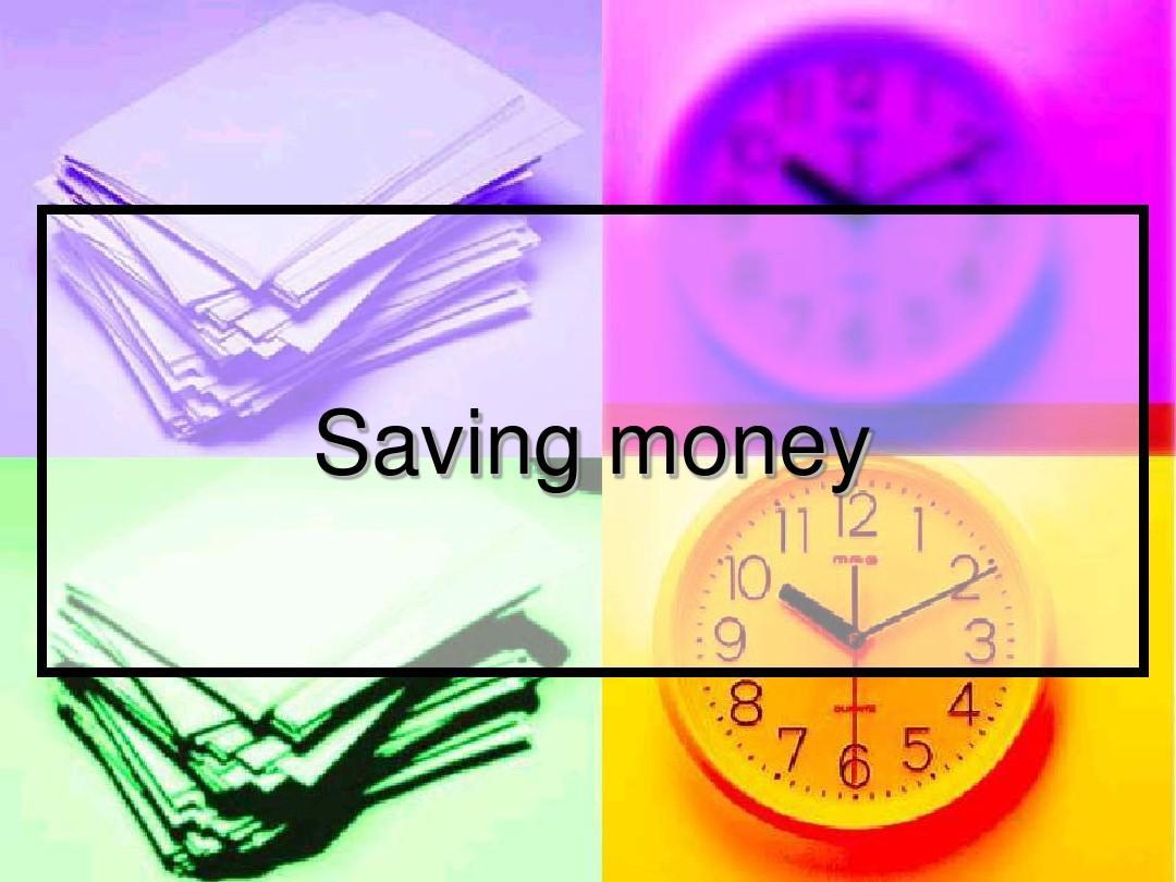 saving moneyppt