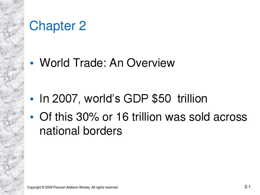 国际经济 UCLA课堂内容2
