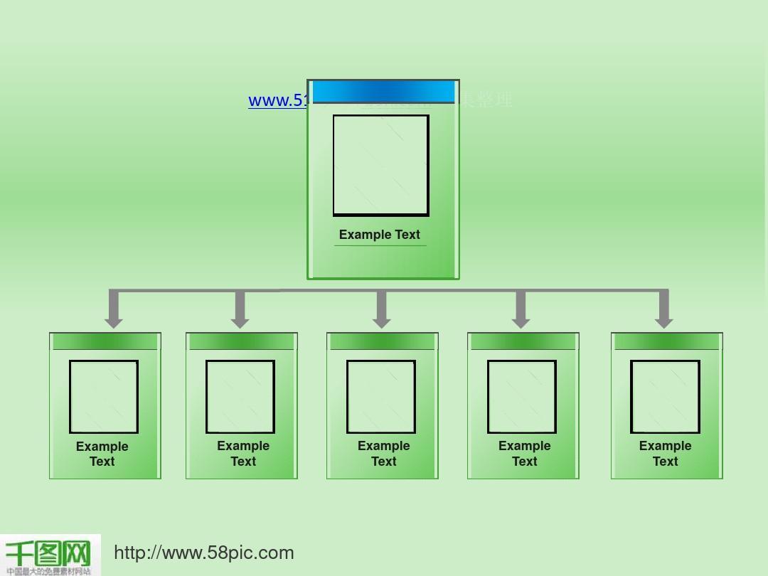 企業人員組織結構圖ppt模板圖片