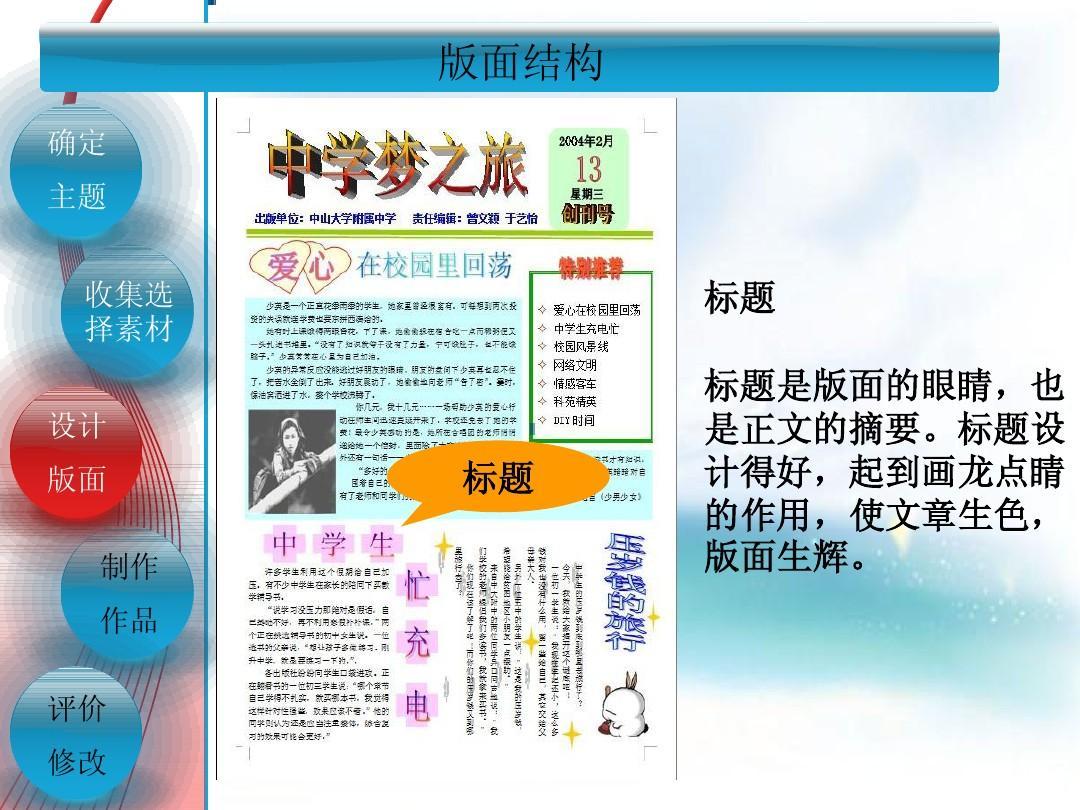 高中信息技术基础课件 电子板报的制作ppt图片