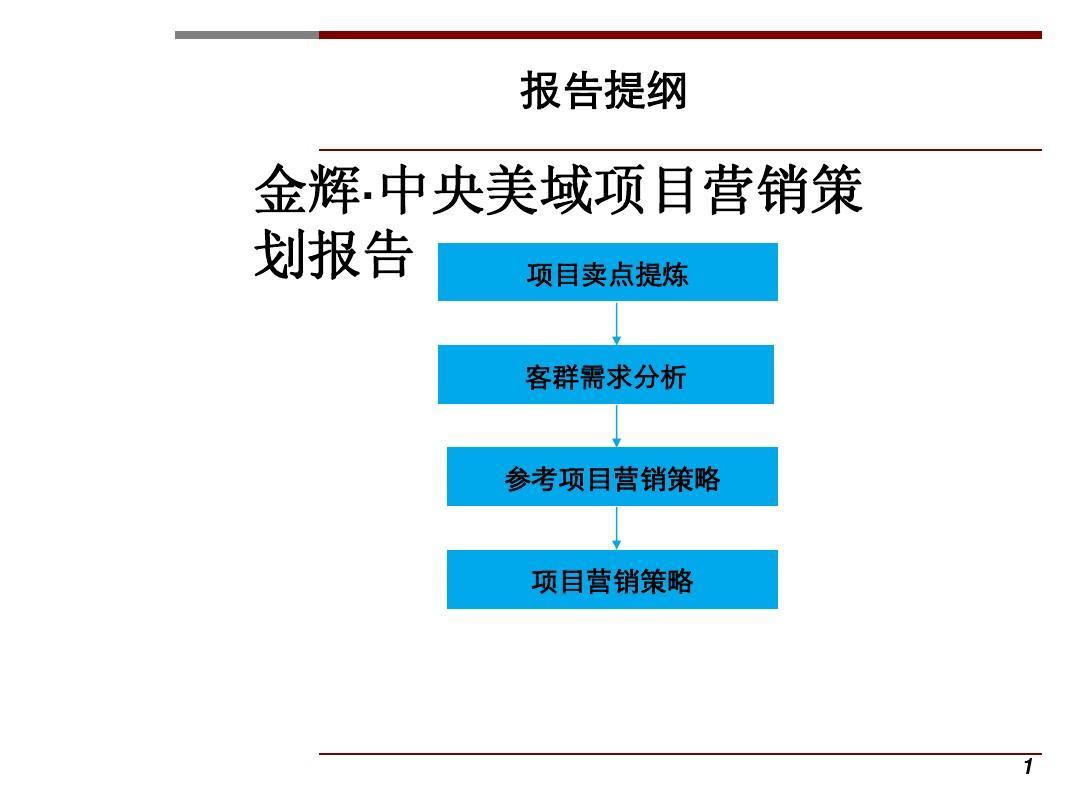 2011年世联最新项目营销策划报告PPT
