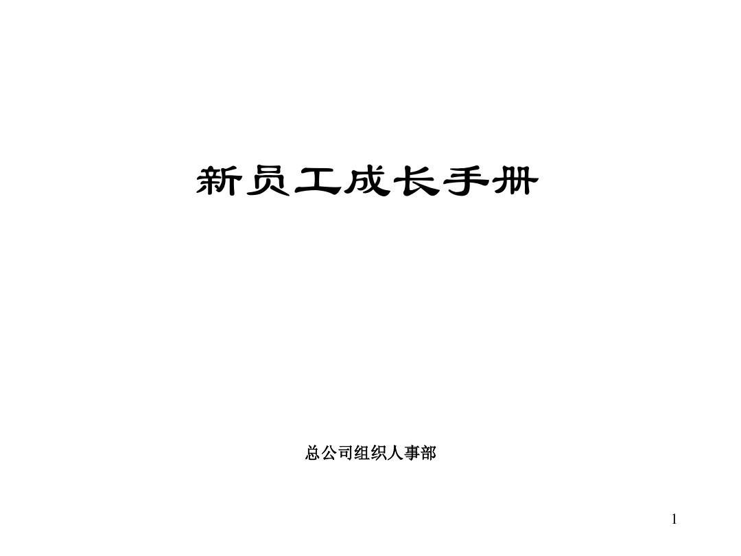 500强企业员工手册