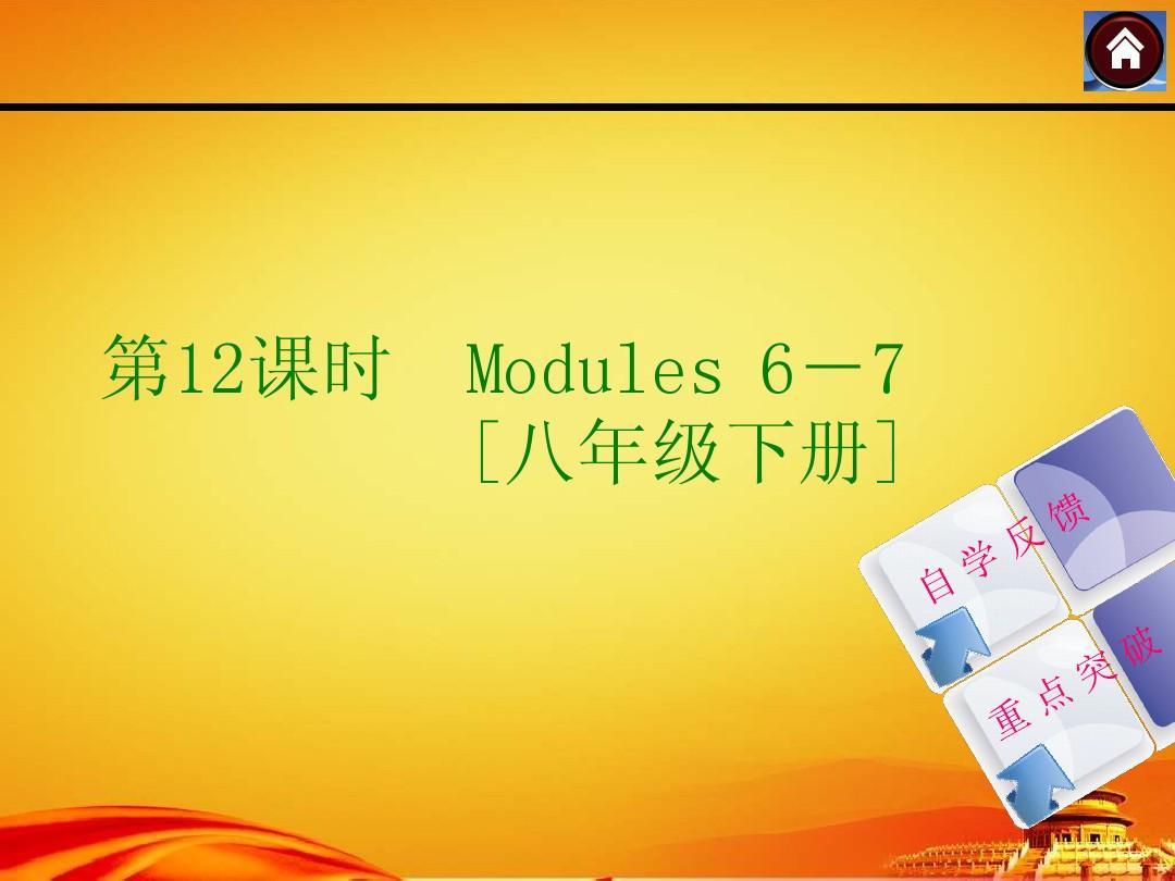 2015中考英语复习课件第12课时(外研八年级下Modules6-7)