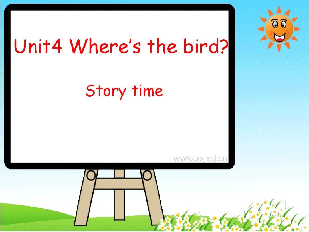 牛津译林英语三年级下册《Unit 4 Where's the bird》 Story time课件