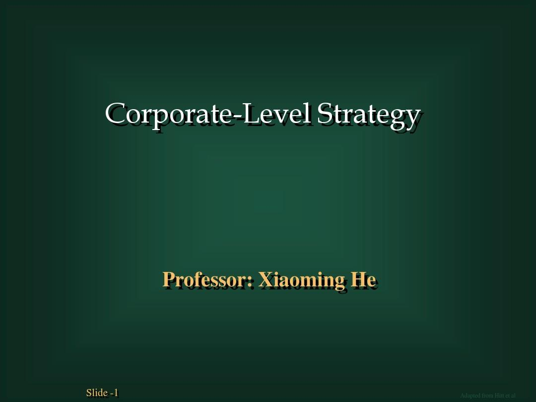 chapter 7corporate strategy1 corporate strategy is Study 72 chapter 8 flashcards  all of the following are international corporate-level strategies  a multidomestic corporate-level strategy has .