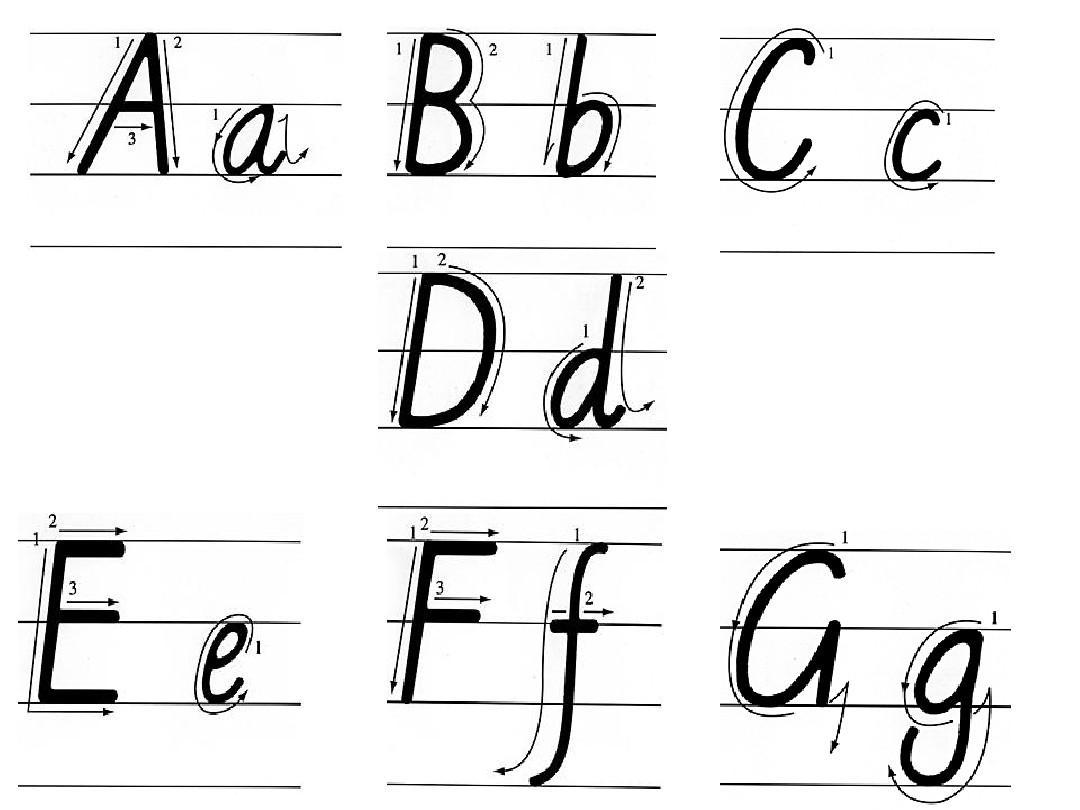 英文26个字母书写 英语26个字母大小写 小学英语26个字母标准手写体图片