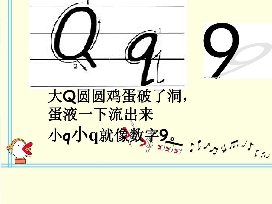 26个字母的记忆方法和手写体ppt图片