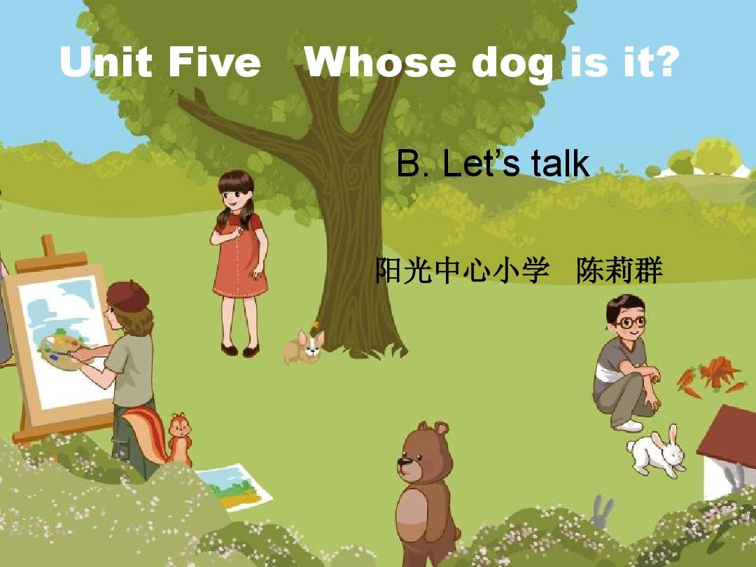 PEP五下Unit 5B Let's talk