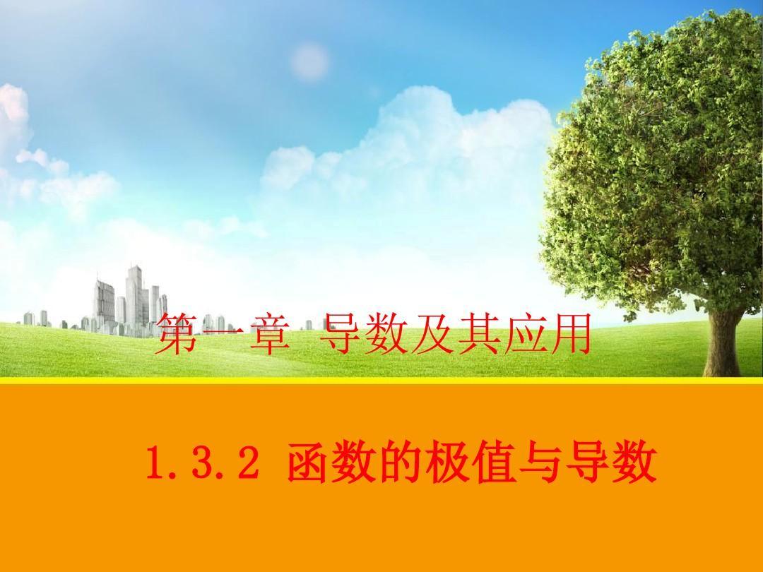【数学】132 函数的极值与导数 课件(人教A版选修2-2)
