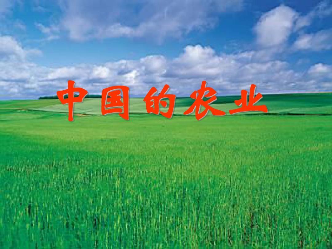 中国的农业1-