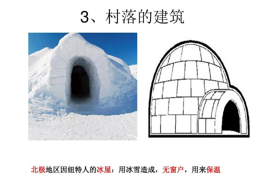 北极地区因纽特人的冰屋:用冰雪造成,无窗户,用来保温图片