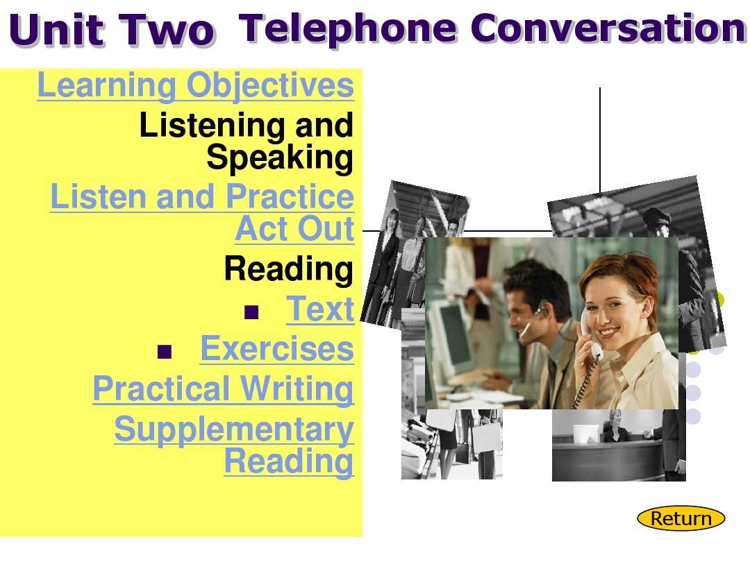 Unit 2 Telephone Conversation Microsoft PowerPoint 演示文稿PPT