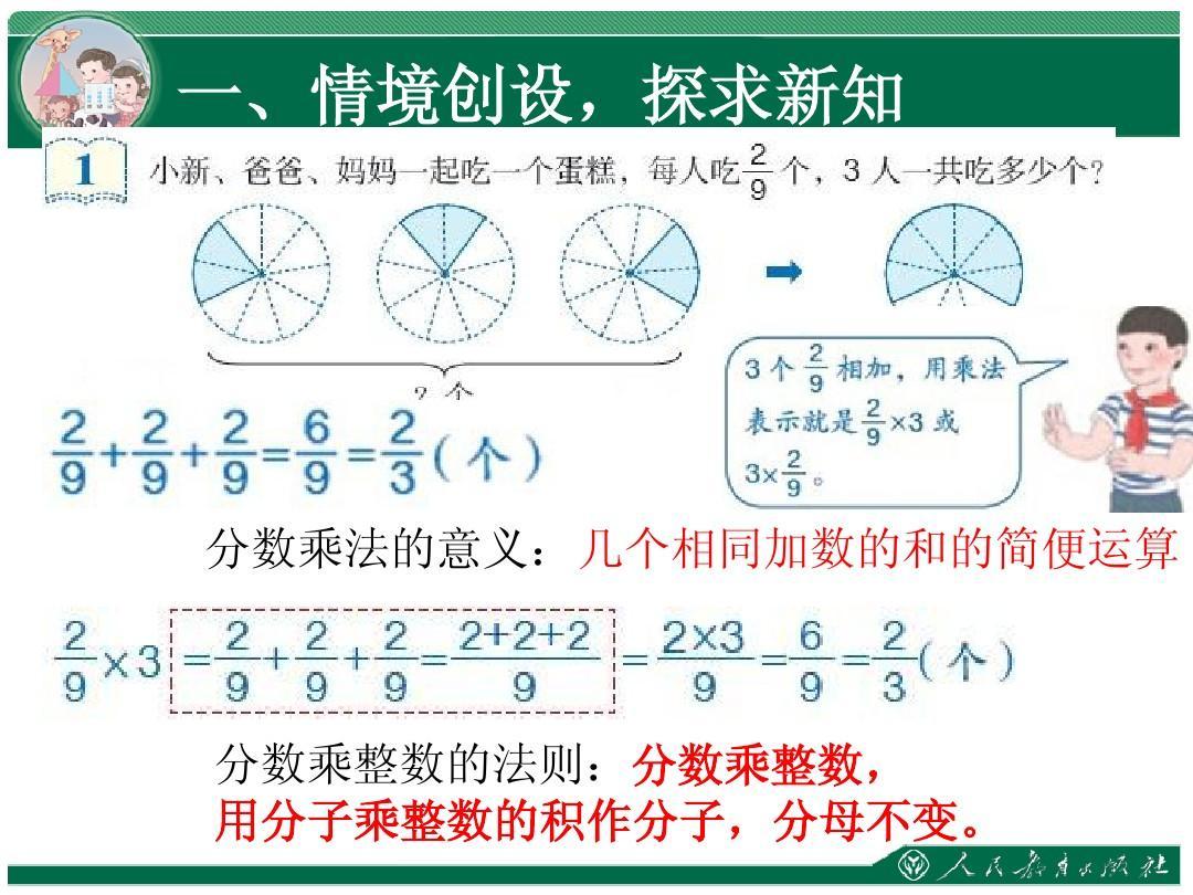 初中版六分数年级人教整数乘数学一ppt大学只读上册怎么了考图片