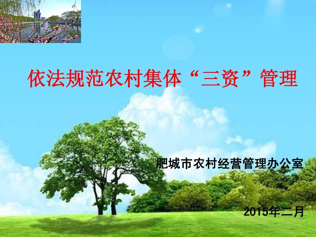 """依法加强农村集体""""三资""""管理工作"""