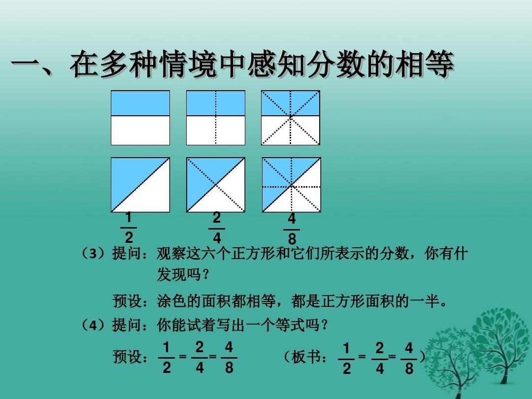 最新人教大班五小学性质美工四,年级的基本精品(下册优质课ppt课件)分数数学教案图片