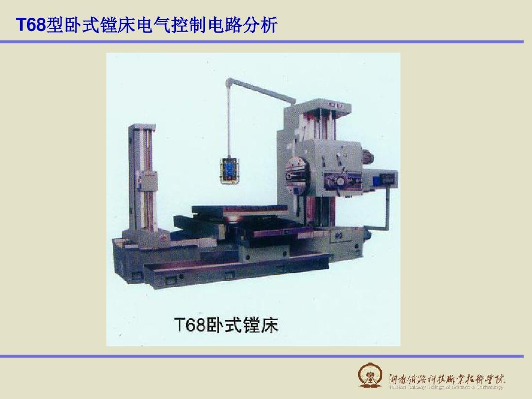 t68型卧式镗床电气控制电路分析ppt图片