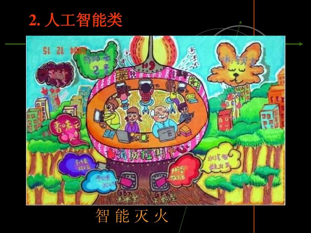 儿童科幻画作品ppt图片