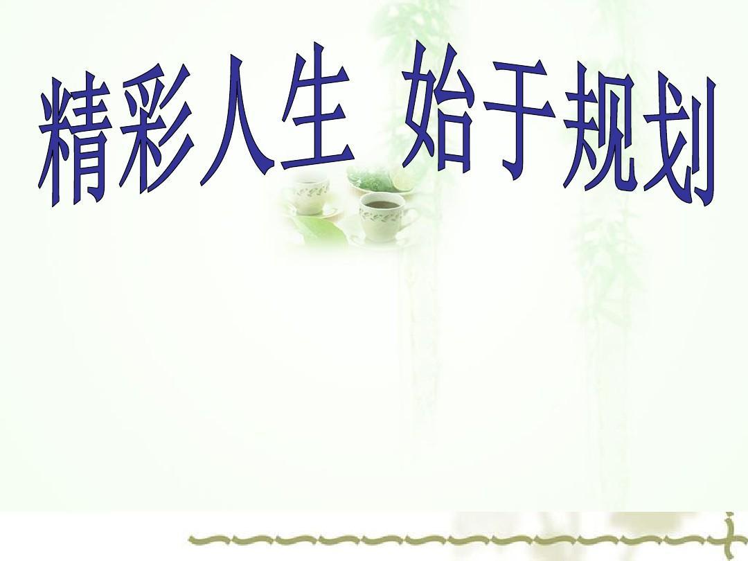 大学生职业生涯规划(师范类)ppt图片