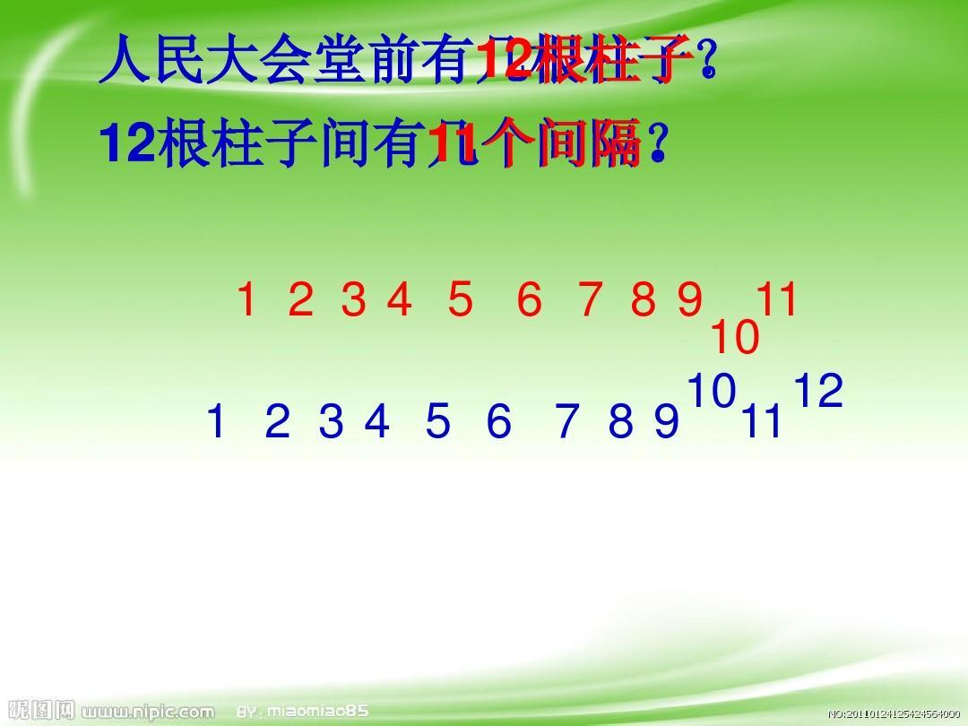 【最新配套】数学版四人教问题下册数学年级《植树广角_第1课时》优质人工智能教学设计《》图片