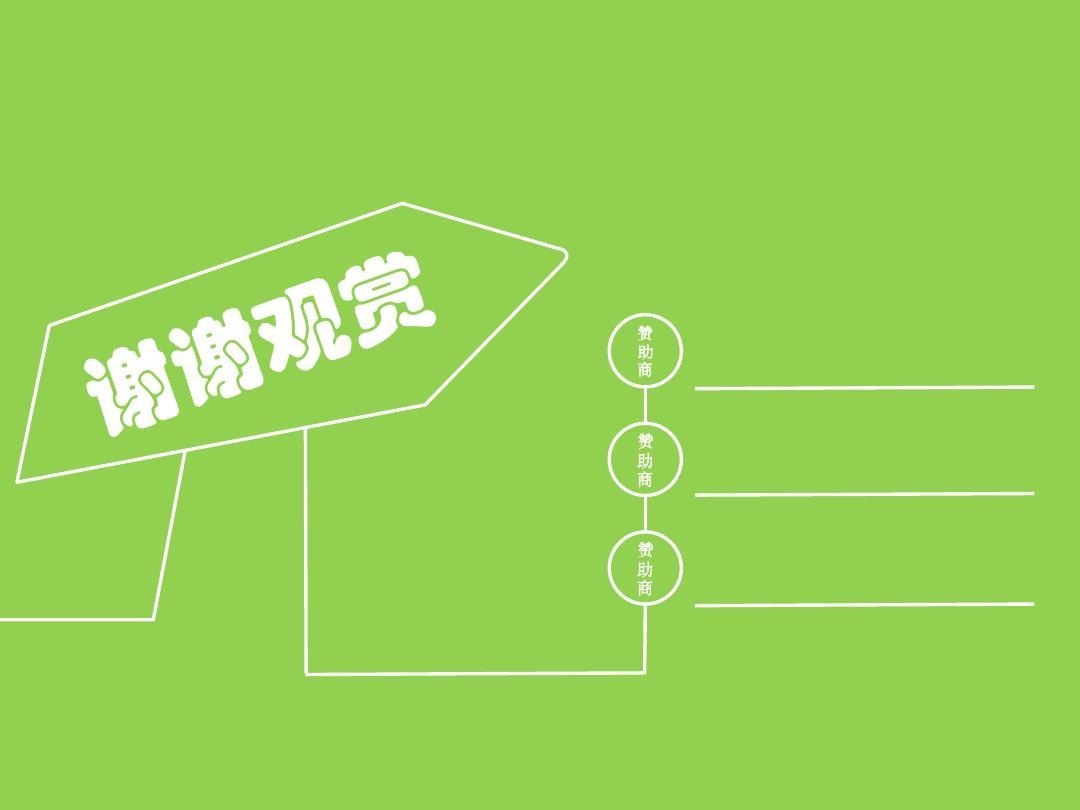 动态小清新绿色背景结尾ppt模版图片