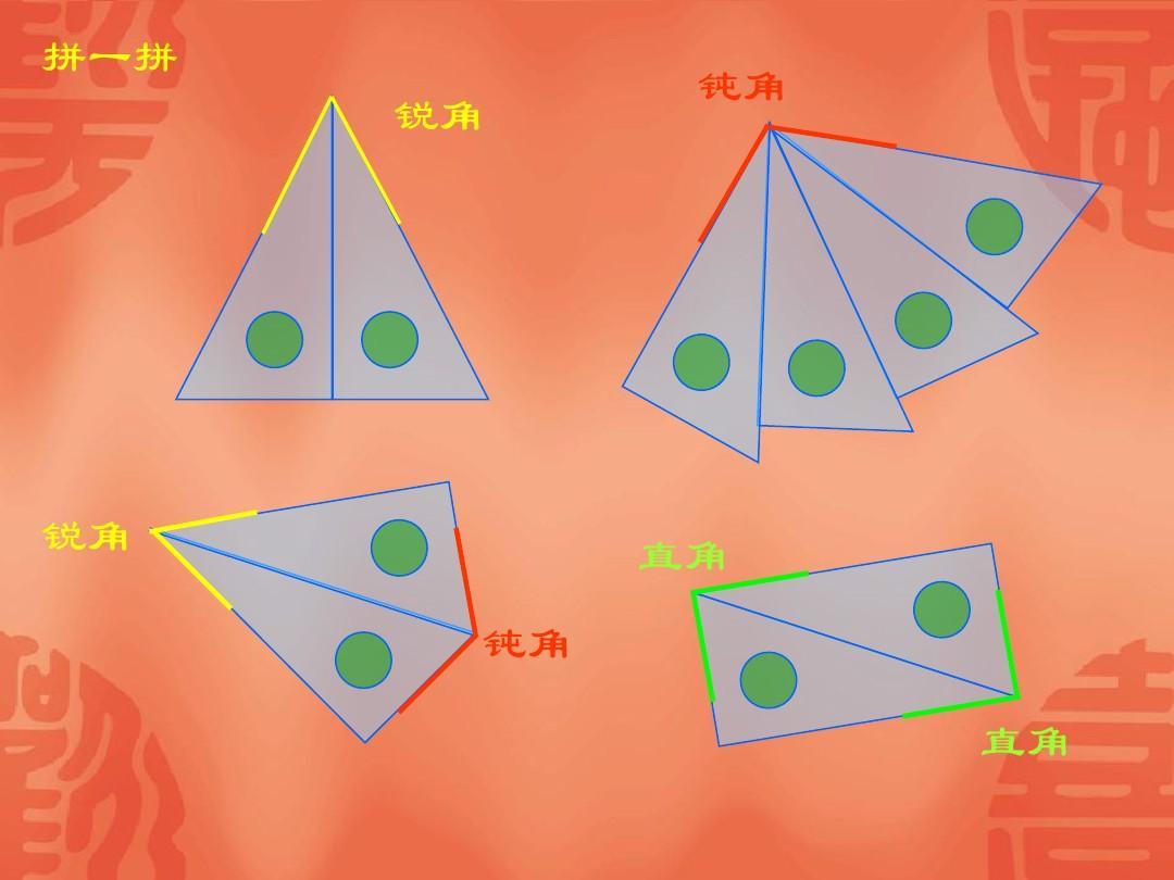 (新)冀教版(2016秋)二年级数学上册《锐角和钝角》精品课件ppt图片