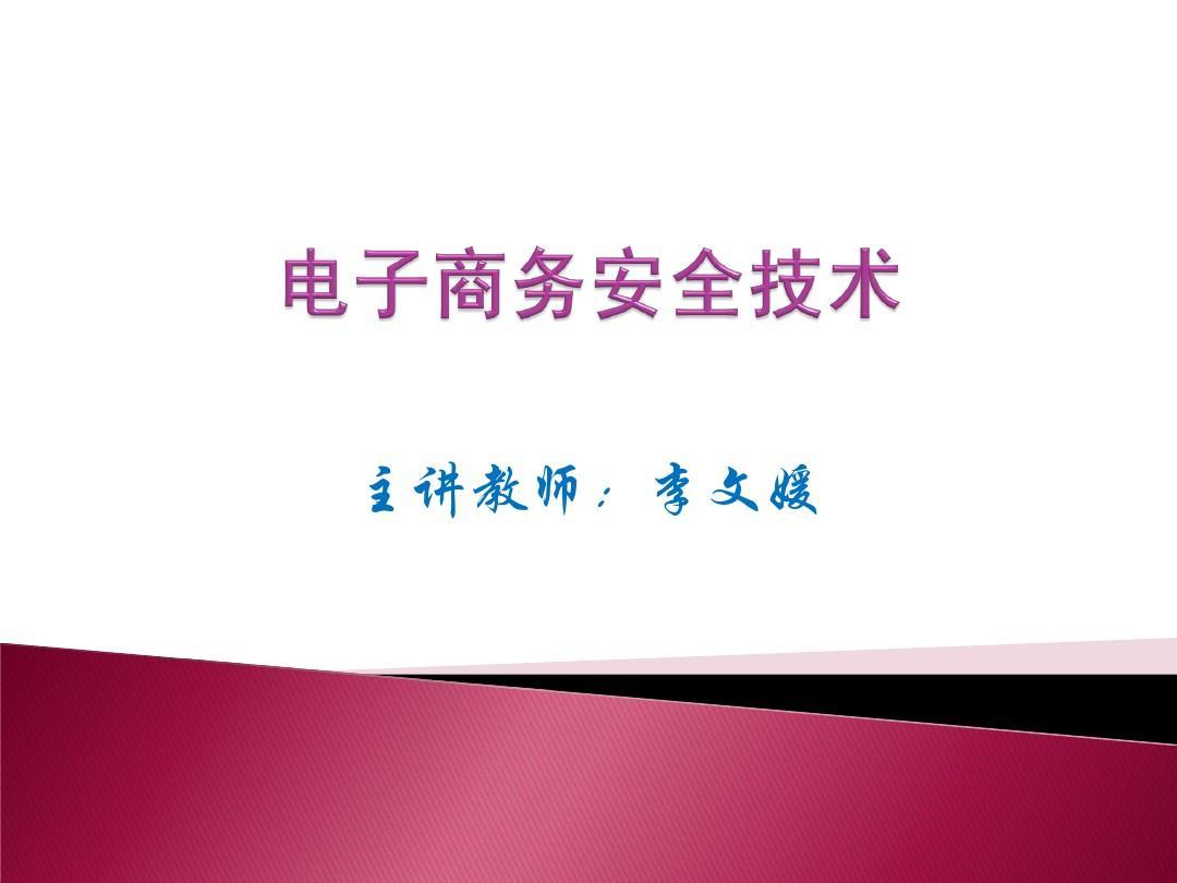 第3章 电子商务系统建设-李文媛PPT
