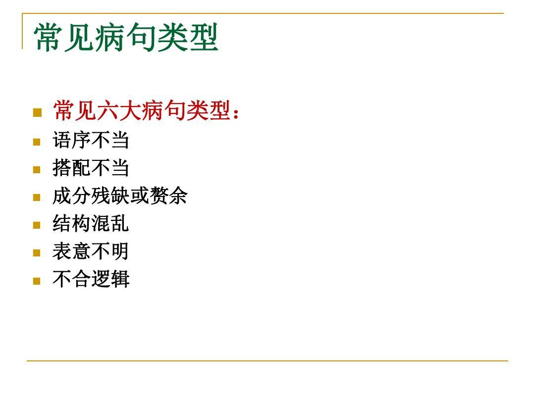 语文v语文病句高中讲解类型修改ppt分数线巴南区普通高中图片