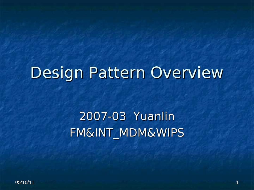 免费文档 所有分类 it/计算机 design pattern overview  设计模式 de图片