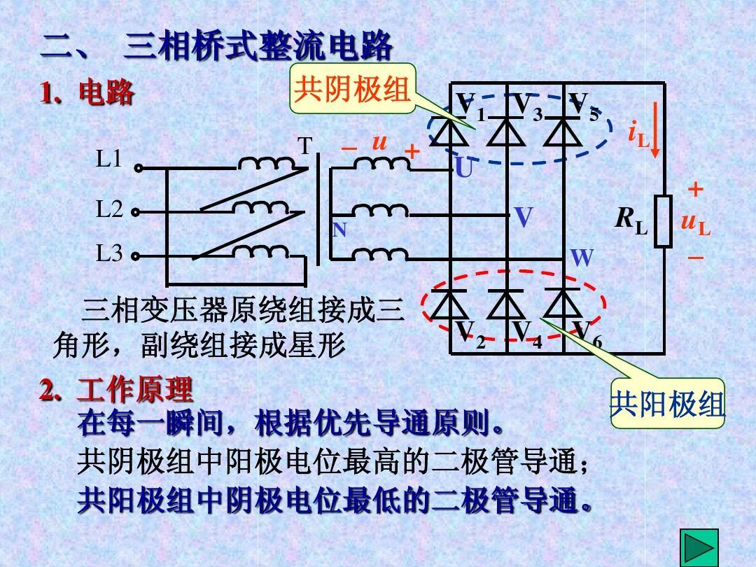 三相桥式整流电路ppt图片