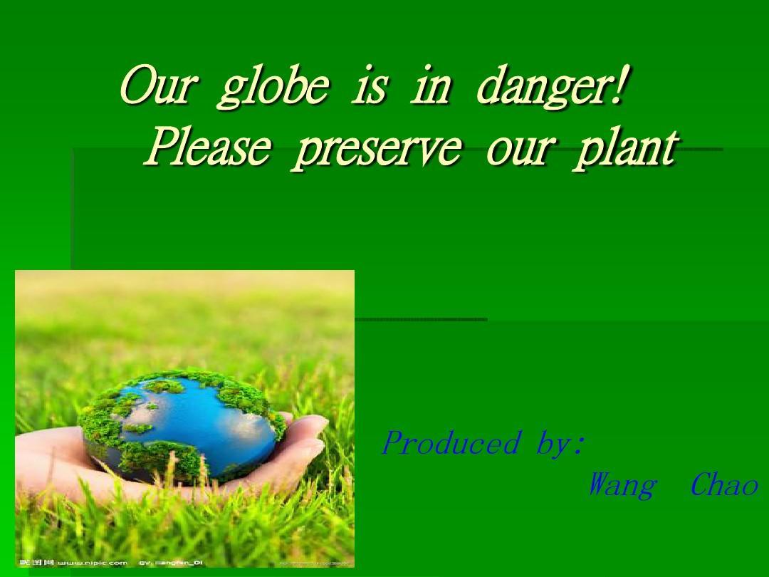 英文环境保护ppt图片
