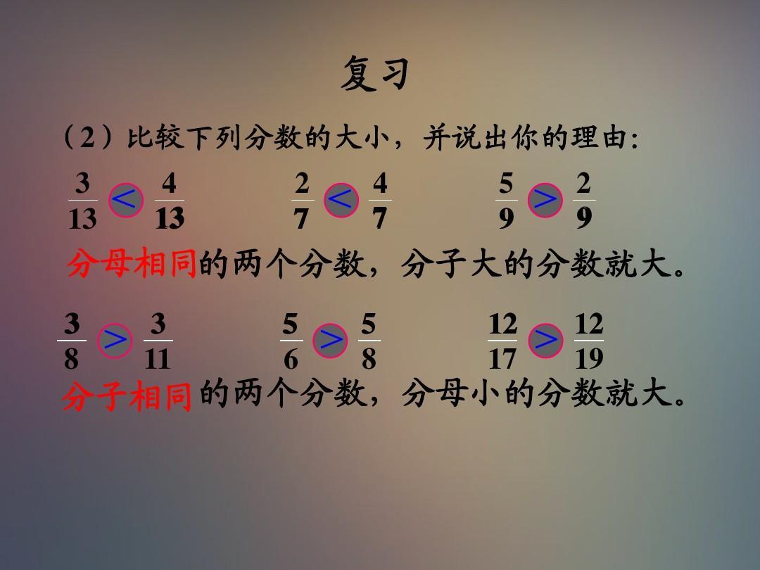 苏教版五疾病下册课件《分数的大小比较》ppt年级的数学重大险讲座图片