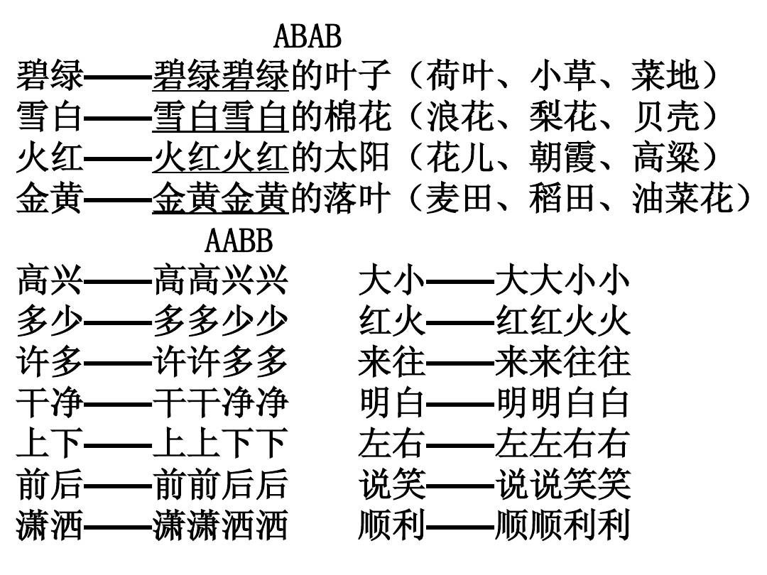 人教版一年级语文下册总复习词语集锦课件答案ppt