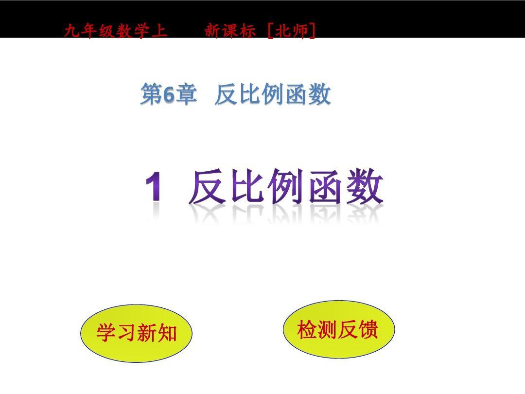 北师大版数学九年级上:6.1《反比例函数》ppt课件